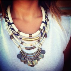 Statement necklace By Cuca #statement #maxicolar #statementnecklace #necklace #cuca #bijuteria