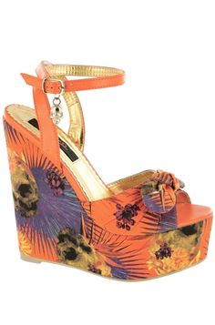 Iron Fist Shoes Reina Muerte Wedge -- LOVE LOVE LOVE THESE!!!!!!!!!!