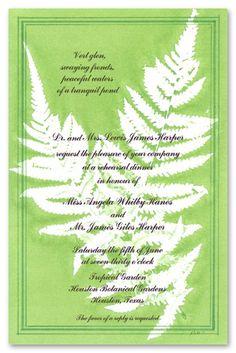 wedding invitations with ferns | Kids Birthday Invitations Girls Boys Boys & Girls Sweet 16 Invitations ...