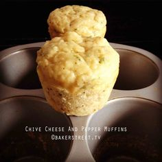 #MuffinMonday: Cheese Chive and Pepper Muffins