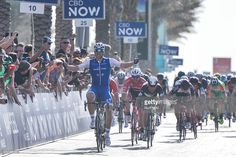#DubaiTour A German professional road racing cyclist, Marcel Kittel from Quick-Step Floors team, wins the Nakheel Stage, 181 km opening stage of Tour of Dubai 2017, with a start from DIMS - Dubai International Marina Club, and finish in front of the Atlantis 'door' at Palm Jumeirah. The 2017 Dubai Tour takes place from 31st January to 4th February. On Tuesday 31 January 2017, in Dubai, UAE.