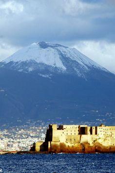 Il äVesuvio with snow, #Napoli