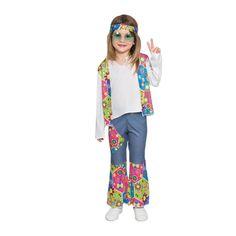 Disfraz de Mini Hippie Niña #disfraces #carnaval #novedades2015
