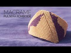 Pulsera Romboide en Macramé - YouTube