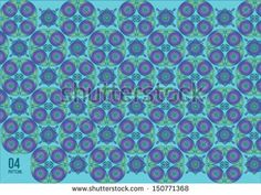 vector pattern javanese batik on cool ice colors  - stock vector