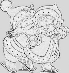 Riscos para pintura panos de Prato- Natal