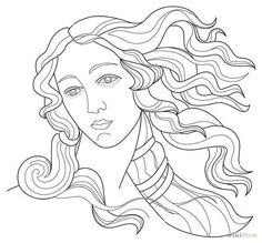sandro botticelli coloring pages Venus Painting, Painting Art, Paintings Famous, Famous Artwork, Art Plastique, Aphrodite, Art History, Art Inspo, Line Art
