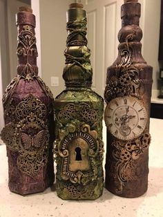 Save to Bottle Folder- Save to Bottle Folder Save to Bottle Folder – - bottle crafts antique Glass Bottle Crafts, Wine Bottle Art, Diy Bottle, Broken Glass Art, Sea Glass Art, Stained Glass Art, Water Glass, Bottles And Jars, Glass Bottles