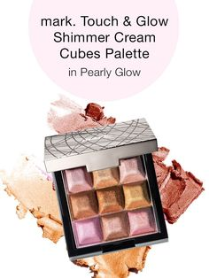 This week's must-have beauty buy is mark. By Avon Touch & Glow Shimmer Cream Cubes All Over Face Palette! Shop the look now!