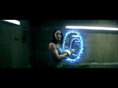 Scene from a fan made Portal video. I thought this was well done. It's only for the first Portal video game, however.