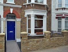 mosaic-victorian-tile-path-yellow-stock-wall-metal-rail-and-gate-london.JPG