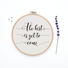 """Cross stitch pattern, """"The best is yet to come"""" chart, counted graph, modern cross stitch, instant download, PDF - PATTERN ONLY by evascreation on Etsy"""