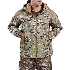 f8fa68dd97ec8 Webetop Men Outdoor Shark Skin WaterProof Breathable Fleece Hooded Tactical  Softshell Military Jacket Coat For Spring
