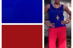 Cobalt Blue+Ruby Red