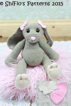 Blossom Bunny Crochet Pattern #325