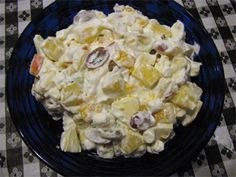 Fruit Salad with whipped cream- My grandma makes this every year for Chirstmas :)