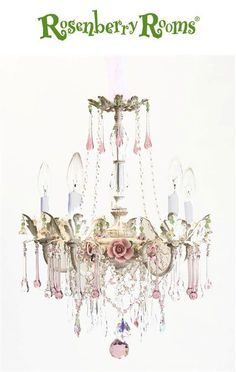 Light up your child's room with this line of ever-so-shabby-chic LampArt!   Sweet children's chandeliers for kid's rooms, playrooms, nurseries, or anywhere you want to add a touch of elegance