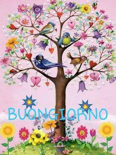 Birthday Greeting Cards, Birthday Greetings, Happy Birthday, Flirty Good Morning Quotes, Italian Greetings, Garden Angels, Shell Crafts, New Years Eve Party, Bird Art