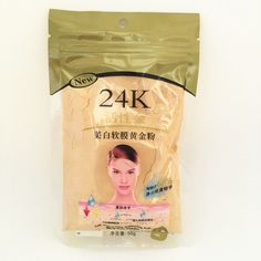 2016 Hot Sale Skin Care Face Makeup 24k Active Gold Mask Powder Facial Mask Spa For Moisturizing & Anti-Aging & Whitening