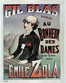 """""""...de l'année 1868, Émile Zola  Il projette de présenter dans son nouveau roman des personnages évoluant dans quatre mondes: le peuple, les commerçants, la bourgeoisie, le grand monde. Il ajoute aussi un monde à part celui des militaires, des prêtres et des prostituées. Les personnages y seront mus par la « fièvre du désir et leur ambition ». Ce sera Au Bonheur des Dames en 1883 que  parlera du grand commerce dans Paris,des grands bazars modernes qui naissent dans la capitale."""""""