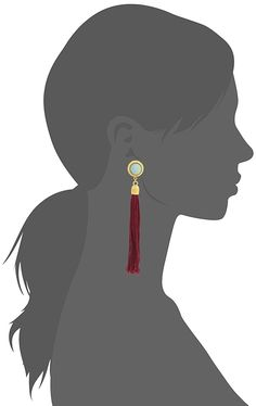 Ben-Amun Jewelry Silk Road Stone Gold-Plated Tassel Clip-On Earrings ** Check this awesome product by going to the link at the image. (This is an affiliate link) #Jewelry