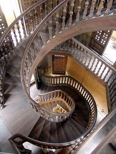 Spiral staircase in the Baron's Palace, Heliopolis District, Cairo, Egypt