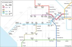 """Unofficial Map: Los Angeles Metro for the """"Analogue Guide: Los Angeles"""""""