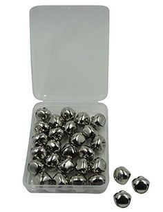 Shapenty 34 Inch Silver Metal Christmas Jingle Bells for Wedding Xmas Tree Decoration Craft DIY Beads Jewelry Findings Charms 28PCSBox *** Click on the image for additional details.(It is Amazon affiliate link) #WeddingAccessoriesIdeas
