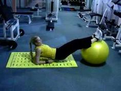 leg raise on fitball - YouTube Try IA Fitness at www.fitia.ca