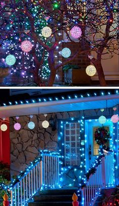 Outdoor LED Hanging Ornaments | Inexpensive Christmas Decorations For Outside  Ideas | Easy Outdoor Christmas Decor Ideas For Porch