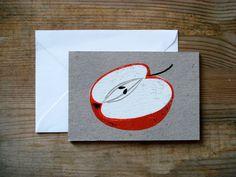 Screen printed cards.