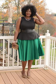 I love, love this skirt! (actually it is a dress from eShakti) - full skirts are my new love and I can't get enough green.