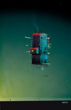 Monfa has created some illustrations alternative housing and structures! via Behance