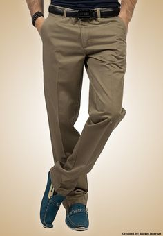 "Bien Habille IRONEEZEE Taupe Grey ""Smart Fit"" Wrinkle Free 100% Cotton Trouser Permanent Crease #men #style #fashion #menswear #Pants #Jeans #trousers #onlinemela www.onlinemela.pk Order Now: +92-334-333-6352"