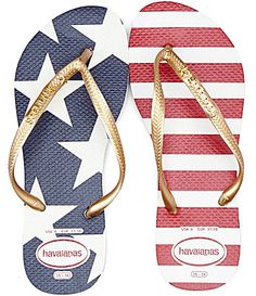 Havaianas Slim Stars And Stripes Americana Flip Flops #Dillards