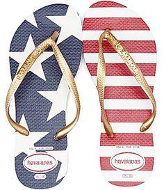 Havaianas Slim Stars And Stripes Americana Flip Flops #Dillards