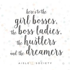 Happy National Boss's Day to all of the blogger boss ladies of #aislesociety and everyone who hustles and dreams for their own businesses! Buy yourself a drink or goodies tonight and celebrate the success of being an amazing #girlboss! #nationalbossday #bossladies #weddingblogsunite by aislesociety