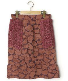 TSUMORI CHISATO(ツモリチサト)「総柄スカート(スカート)」|ピンク