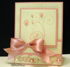 I Love the pearl arrangement at the bottom of this card by crookedcardcreations.com by titi1231
