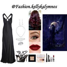 Fashion set Girl of darkness created via Diamond Drop Earrings, Dress Styles, Darkness, Fashion Looks, Dresses, Diamond Earrings, Vestidos, Clothing Styles, Dress