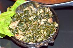 gerecht met spinazie