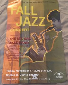 Look at what I found cleaning out our closet. This is my hubby playing the Bari on a MtSac's Jazz Band Concert Poster. #MtSac #jazzband #tbt #throwbackthursday #band #bandgeek #musician #musicianlife #talent #talentedmusician #myhusband #allmine #myhusbandishot