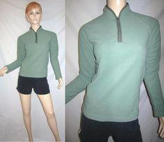 PATAGONIA SYNCHILLA Fleece Olive Green 1/4 Zip Pullover Raglan Jacket XS