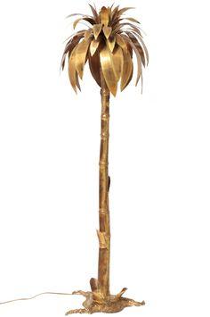 Maison Jansen gold palm light