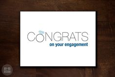 Congrats on Your Engagement Digital Greeting Card by AhHaDesign, $4.00