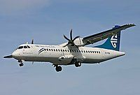 The ATR 72 is a twin-engine turboprop short-haul regional airliner built by the French-Italian aircraft manufacturer ATR. A stretched variant of the ATR 42, the aircraft seats up to 74 passengers in a single-class configuration, and is operated by a two-pilot crew.