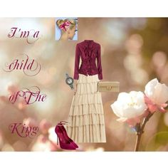 "All but the shoes ! I HATE spike heels!!! ""A Child of The King"" by pentecostal-andlovingit on Polyvore"