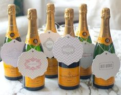 New Years.  Little mini champagne bottles of bubbles would be so cute for door decor or as cake toppers