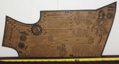 RARE Antique 1800's Victorian Child's Dress Cloak Sewing Pattern JB Plant | eBay