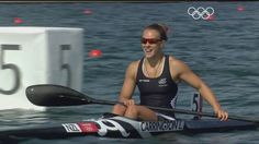 New Zealand's Lisa Carrington Wins Canoe Sprint Kayak 200m Gold - London...